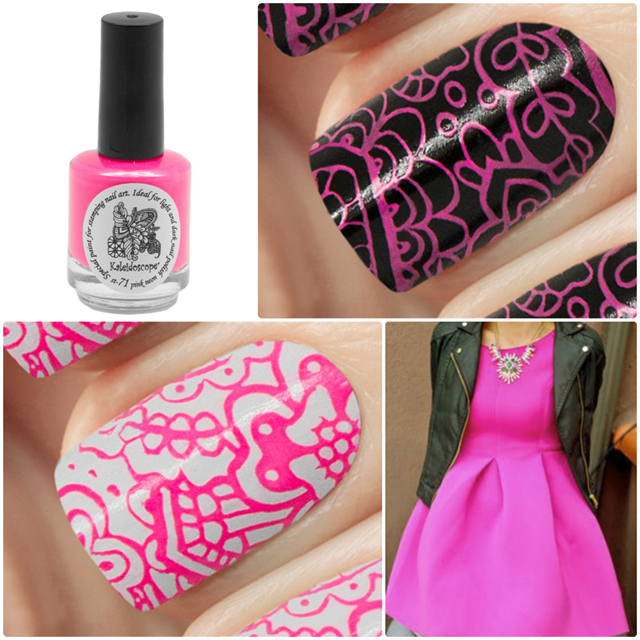 краска для стемпинга, Special paint for stamping nail art №st-71 pink neon