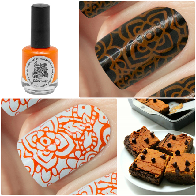 краска для стемпинга, Special paint for stamping nail art №st-72 pumpkin