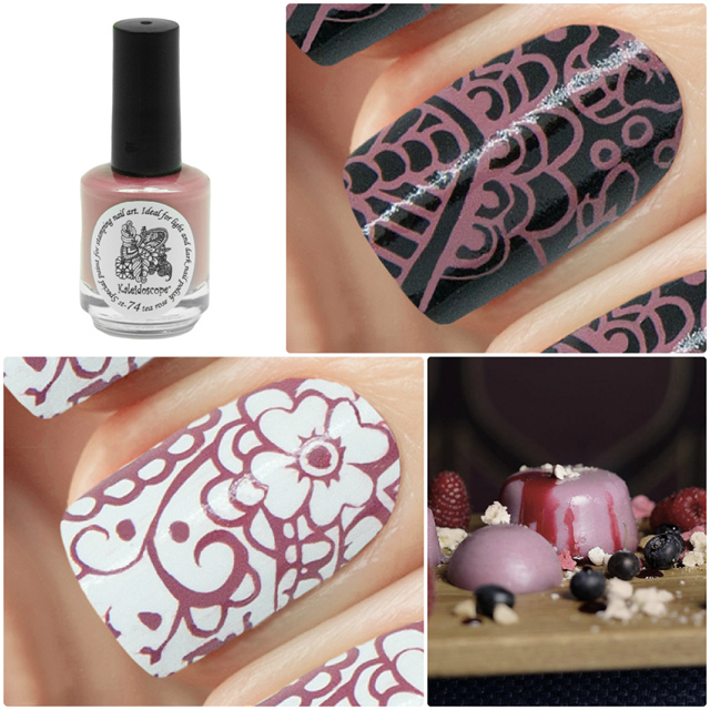 краска для стемпинга, Special paint for stamping nail art №st-74 tea rose