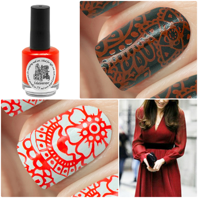 краска для стемпинга, Special paint for stamping nail art №st-75 red neon
