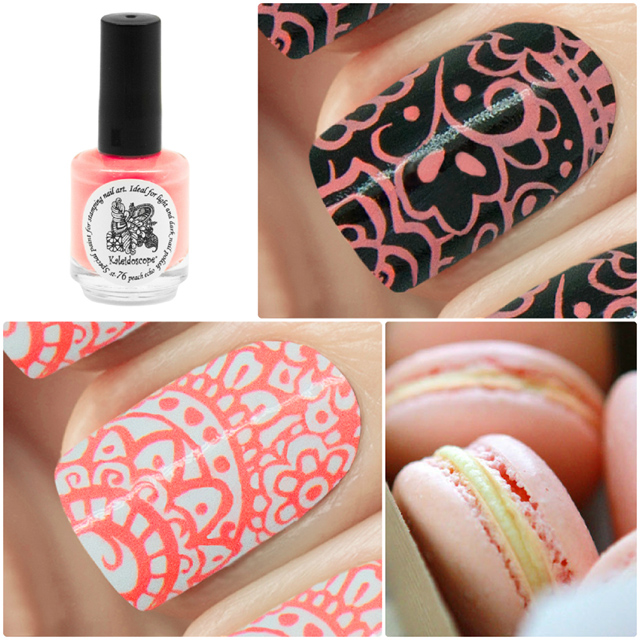 краска для стемпинга, Special paint for stamping nail art №st-76 peach echo