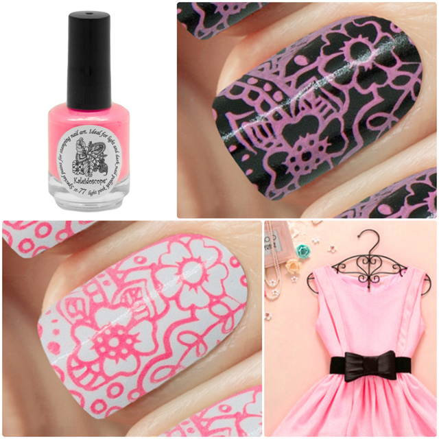 краска для стемпинга, Special paint for stamping nail art №st-77 light pink