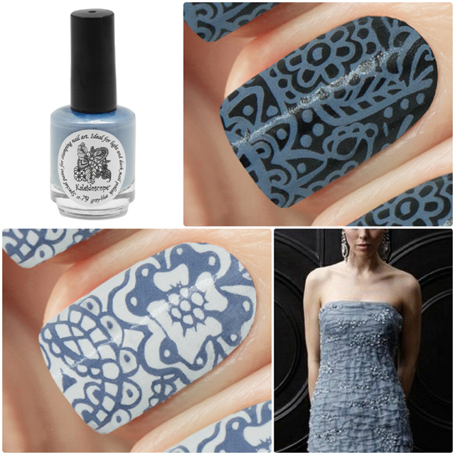 краска для стемпинга, Special paint for stamping nail art №st-79 gray-blue