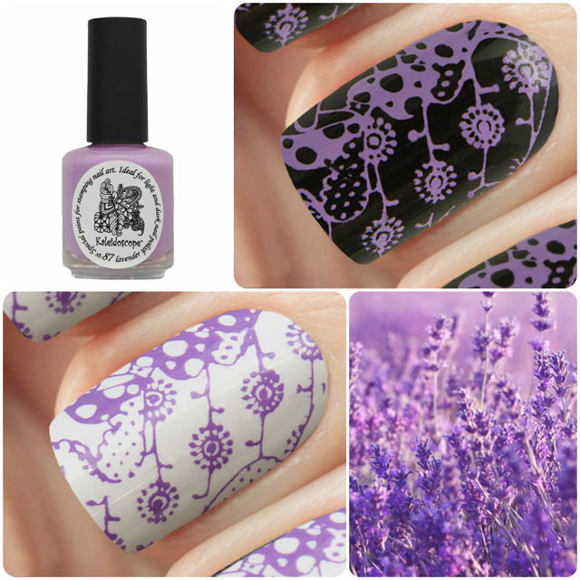 Kaleidoscope EL Corazon краска для стемпинга, Special paint for stamping nail art №st-87 lavender