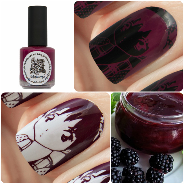 краска для стемпинга, Kaleidoscope EL Corazon Special paint for stamping nail art №st-88 vinous
