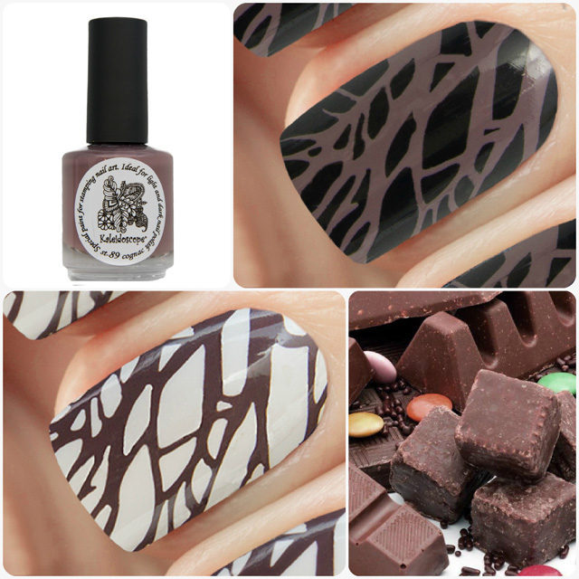 краска для стемпинга, Special paint for stamping nail art №st-89 cognac