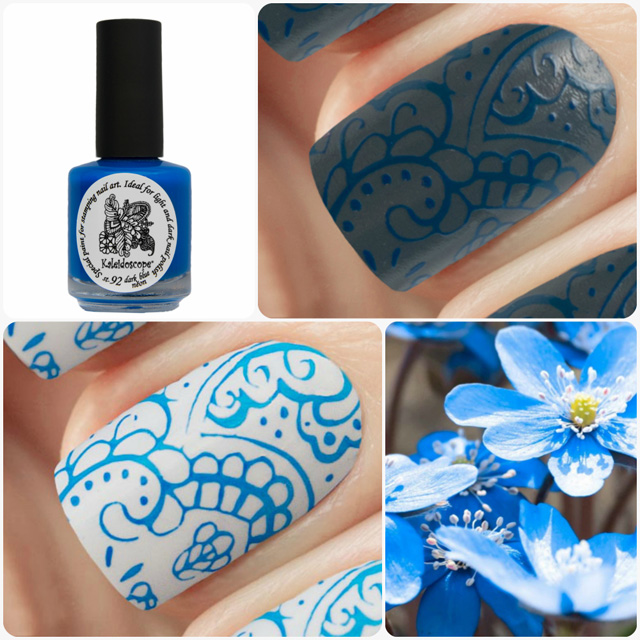 краска для стемпинга, Special paint for stamping nail art №st-92 dark blue neon