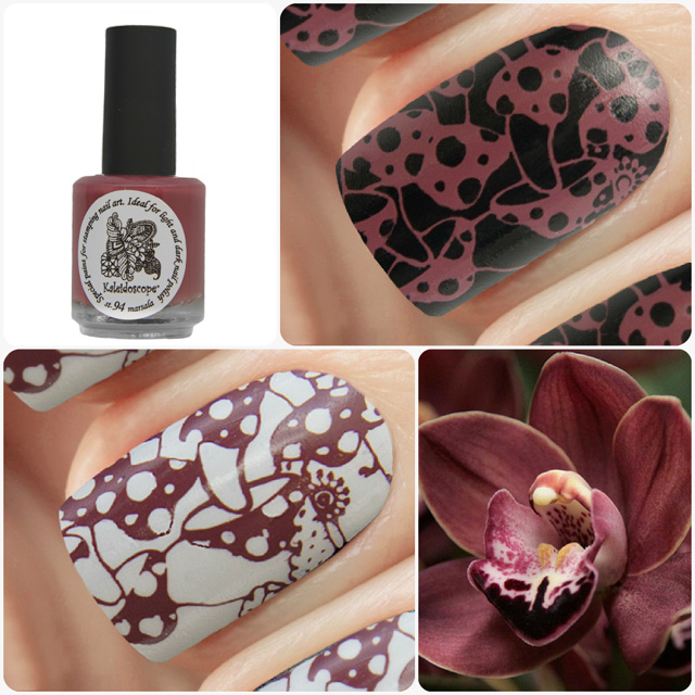 краска для стемпинга, Special paint for stamping nail art №st-94 marsala