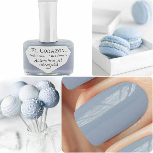EL Corazon Active Bio-gel Color gel polish Cream №423/296