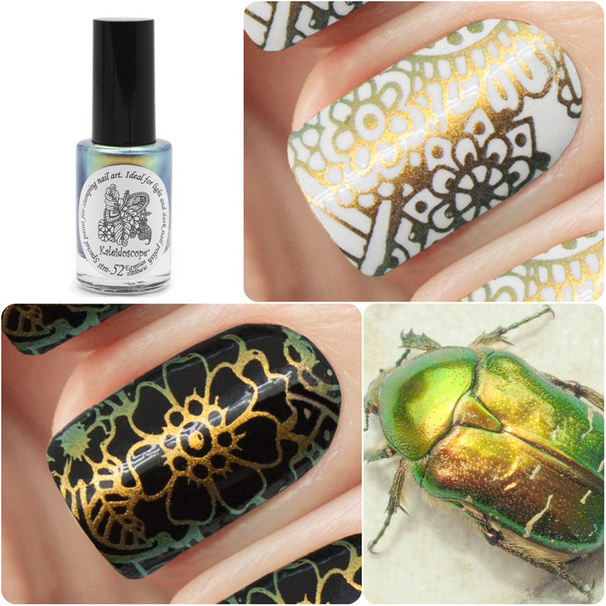 EL Corazon Kaleidoscope Special paint for stamping nail art Stm-52 Egyptian scarabaeus