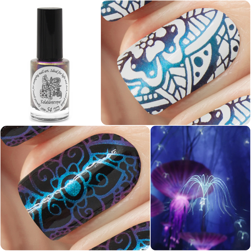 EL Corazon Kaleidoscope Special paint for stamping nail art Stm-54 storm cloud