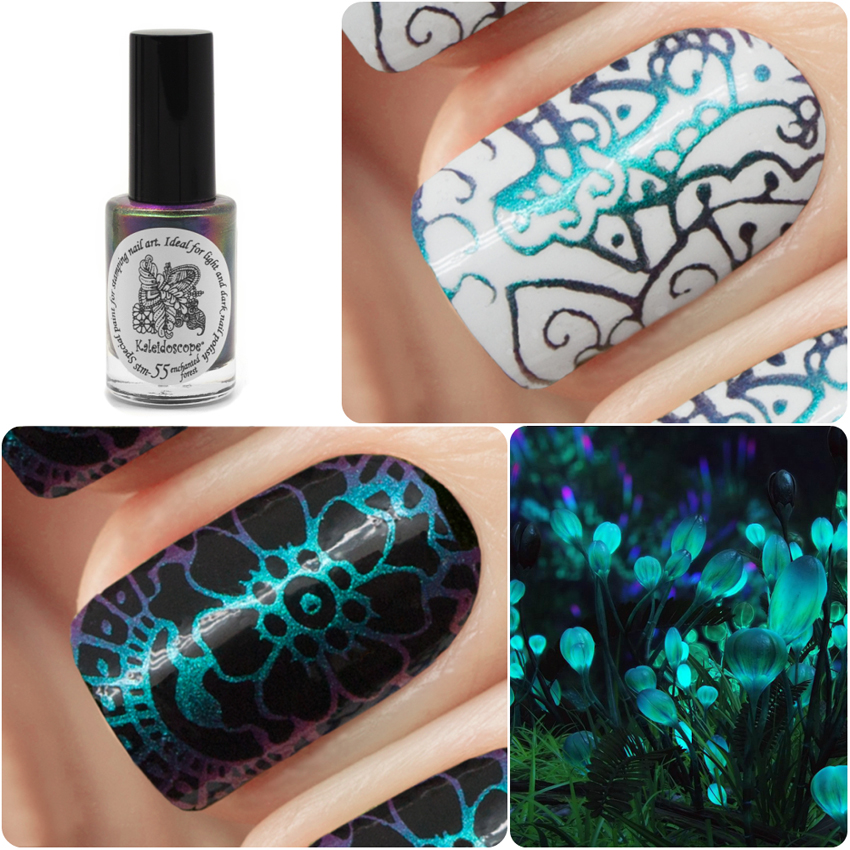 Special paint for stamping nail art Stm-55 enchanted forest