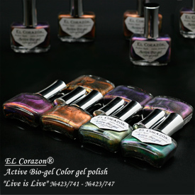 EL Corazon  Active Bio-gel Color gel polish Nail Live is Live 423 741 742 743 744 745 746 747