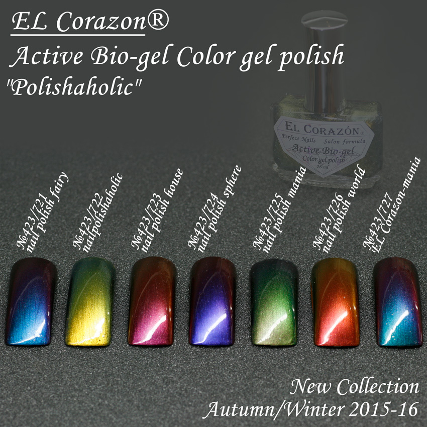 EL Corazon Active Bio-gel Color gel polish Polishaholic