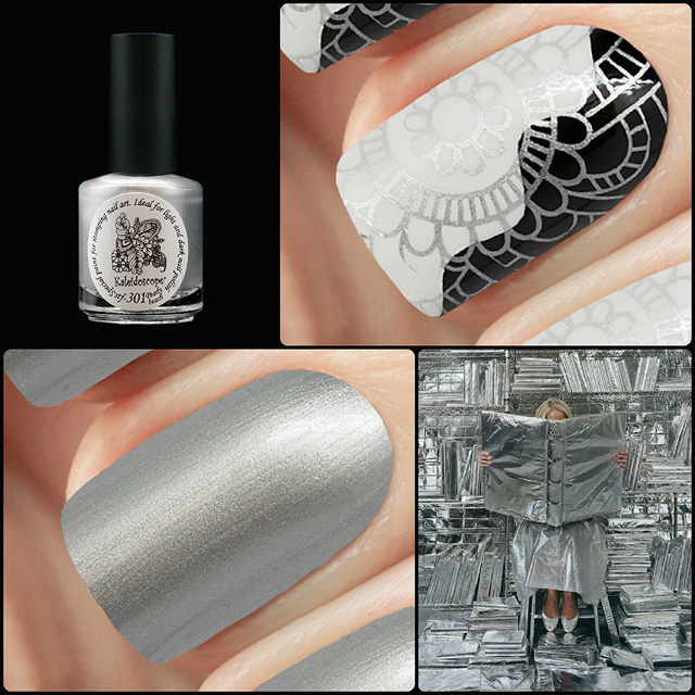 EL Corazon Kaleidoscope Special paint for stamping nail art Stf-301 Pearly beach