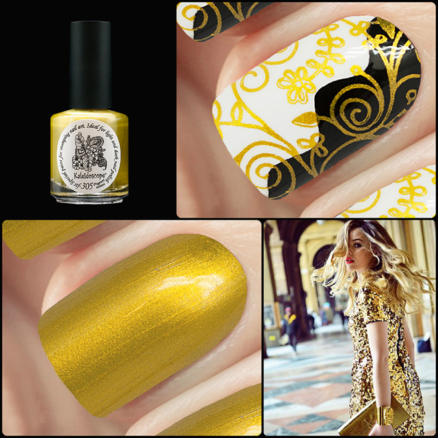 EL Corazon Kaleidoscope Special paint for stamping nail art Stf-305 Fragrant mimosa