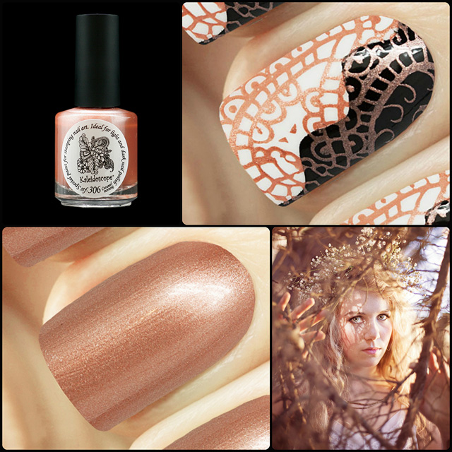 EL Corazon Kaleidoscope Special paint for stamping nail art Stf-306 Caramel morning
