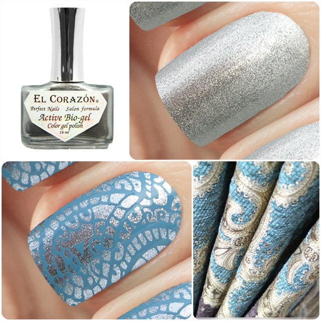 EL Corazon Active Bio-gel Color gel polish French Jacquard 423/901