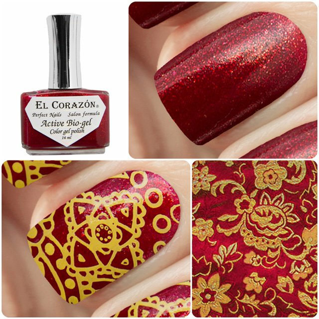 EL Corazon Active Bio-gel Color gel polish Russian Brocade 423/974