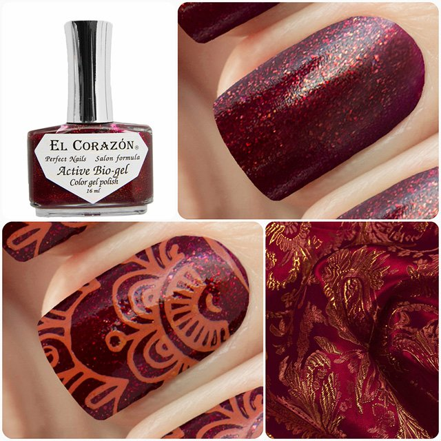 EL Corazon Active Bio-gel Color gel polish Russian Brocade 423/975