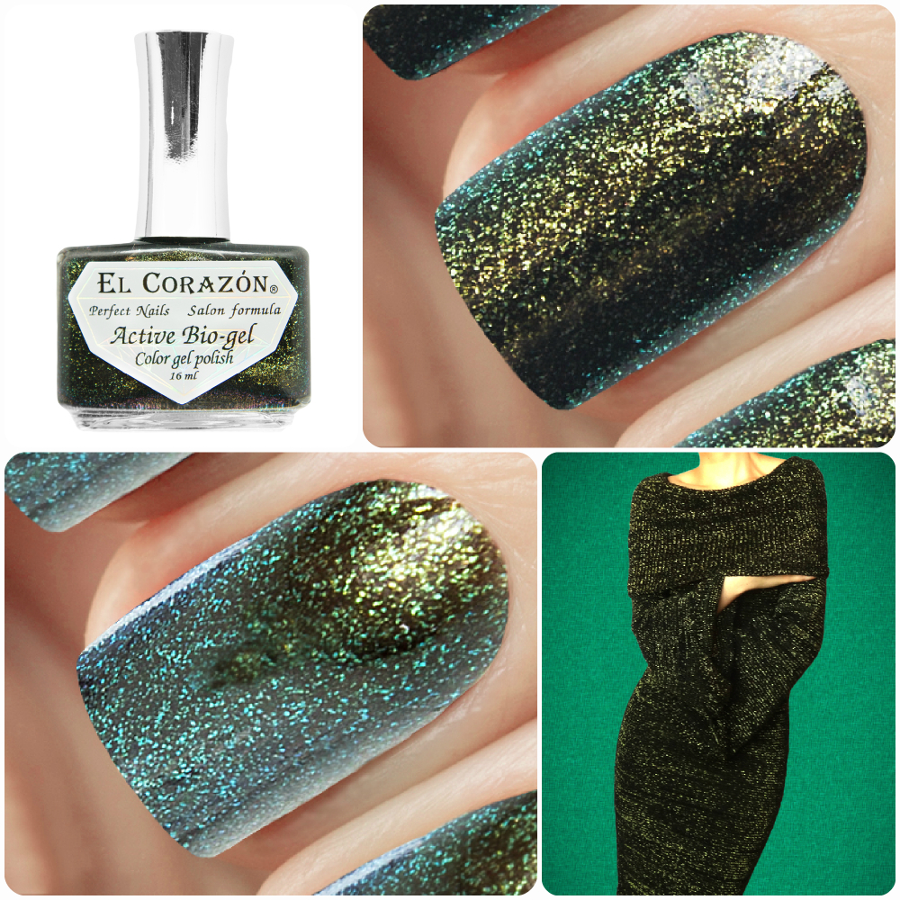 EL Corazon Active Bio-gel Color gel polish American Lurex 423/991