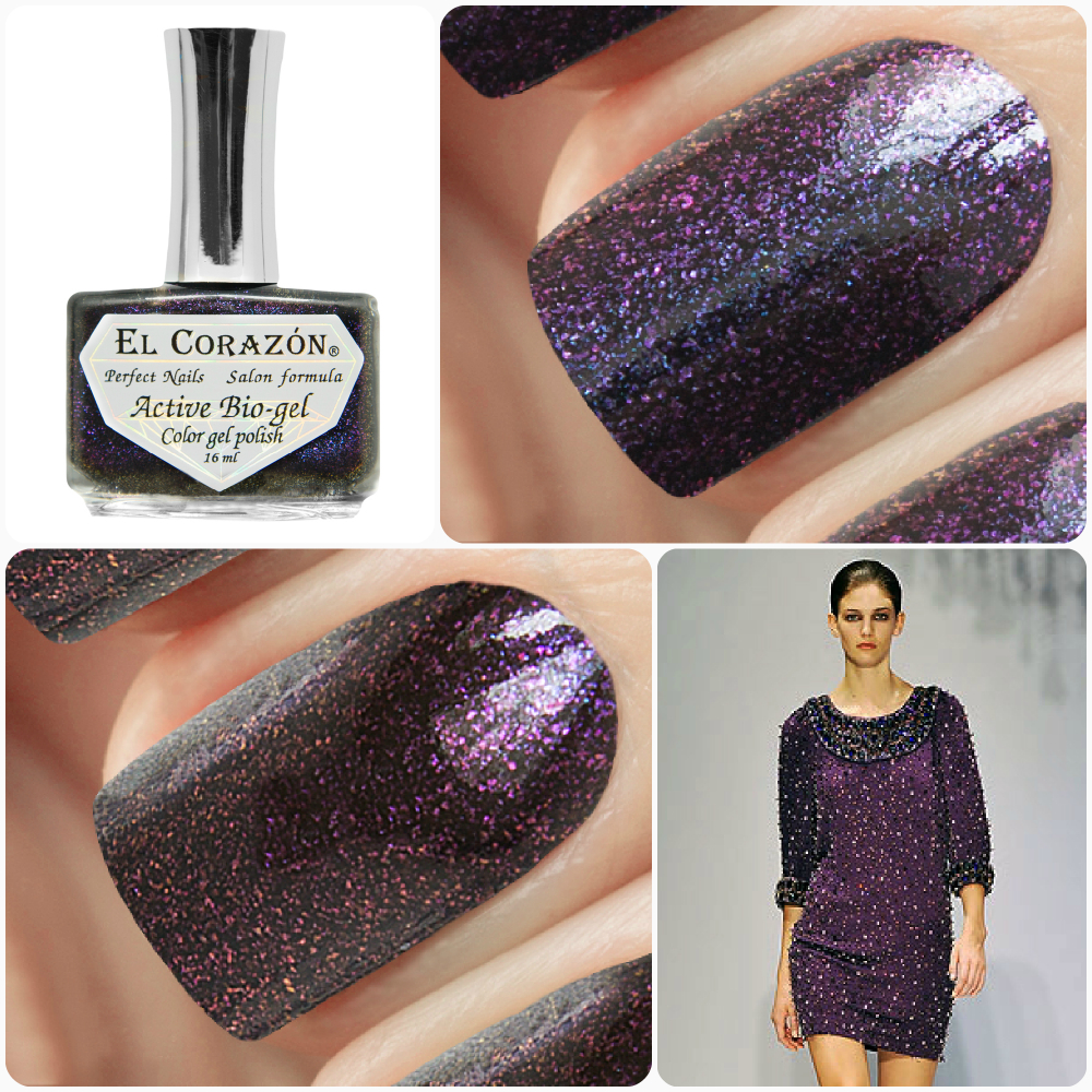 EL Corazon Active Bio-gel Color gel polish American Lurex 423/995