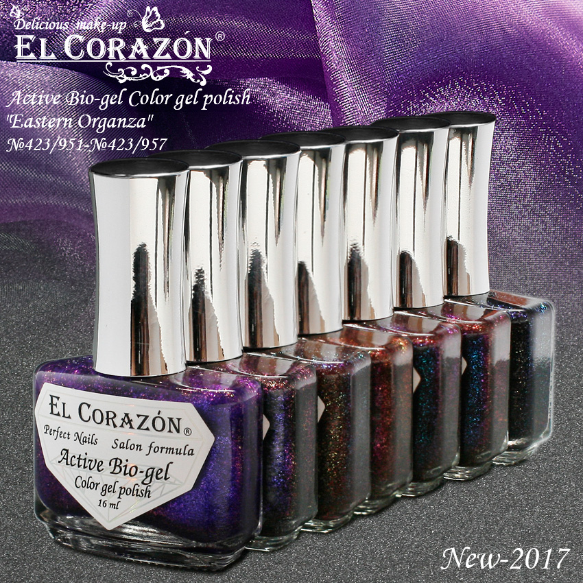 EL Corazon Active Bio-gel Color gel polish Eastern Organza
