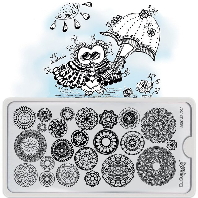 El Corazon Stamping Nail Art Plate Collection №EC-SP-1001, пластины для стемпинга, плитки для стемпинга