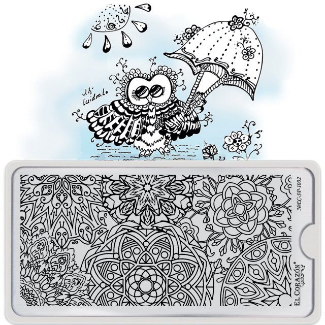 El Corazon Stamping Nail Art Plate Collection №EC-SP-1002