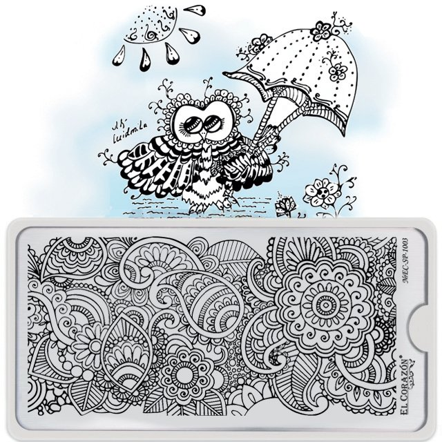 El Corazon Stamping Nail Art Plate Collection №EC-SP-1003