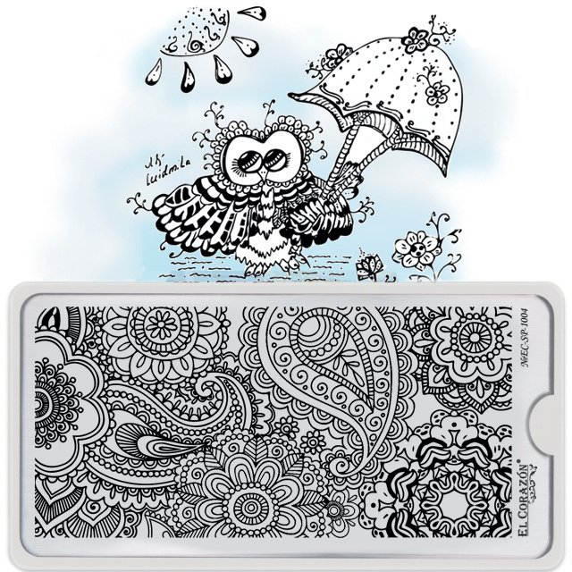 El Corazon Stamping Nail Art Plate Collection №EC-SP-1004