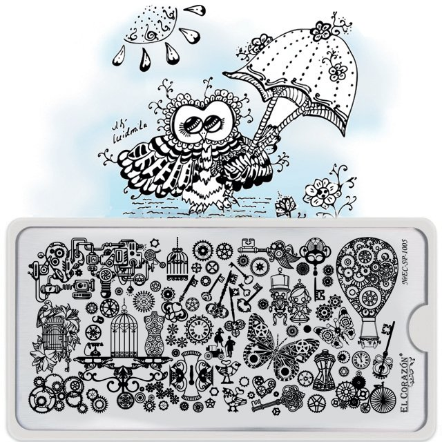 El Corazon Stamping Nail Art Plate Collection №EC-SP-1005